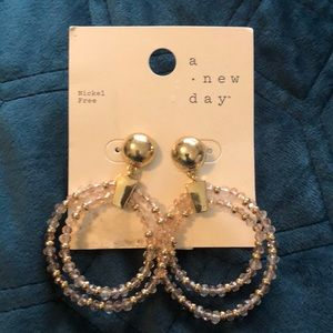 Gold/Pink bold earrings